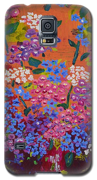 Galaxy S5 Case featuring the painting Hydrangea Collage by Angela Annas