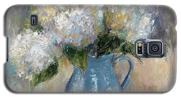 Galaxy S5 Case featuring the painting Hydrangea Morning by Jennifer Beaudet