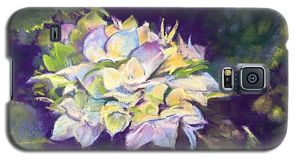 Galaxy S5 Case featuring the pastel Hydrangea by Rebecca Matthews