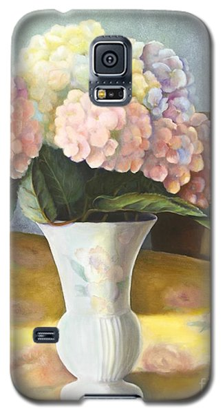 Galaxy S5 Case featuring the painting Hydrangeas by Marlene Book