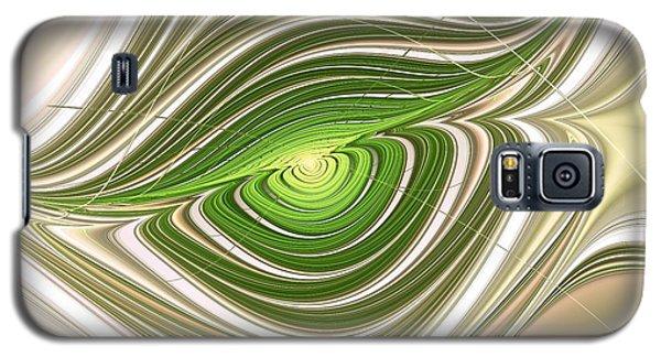 Galaxy S5 Case featuring the digital art Hypnotic Eye by Anastasiya Malakhova