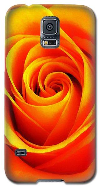 Hypnotic Orange Galaxy S5 Case