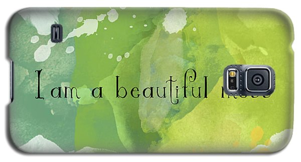 Galaxy S5 Case featuring the painting I Am A Beautiful Mess by Lisa Weedn