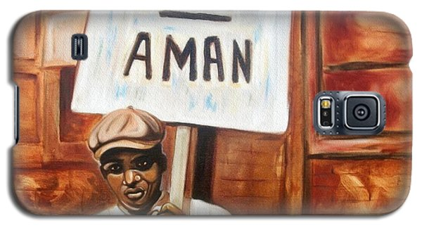 Galaxy S5 Case featuring the painting I Am A Man by Emery Franklin