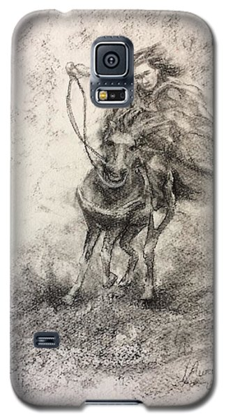 Galaxy S5 Case featuring the painting Feeling Free by Laila Awad Jamaleldin