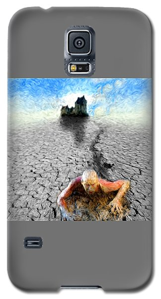 Galaxy S5 Case featuring the painting I Am Not My Past by Robby Donaghey