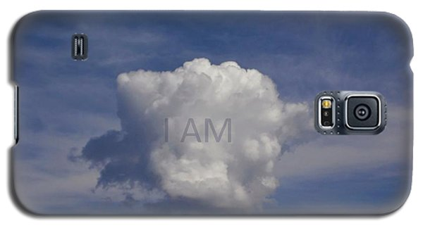 Galaxy S5 Case featuring the photograph I Am One Cloud Affirmation by Deborah Moen
