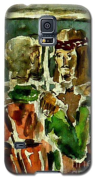Galaxy S5 Case featuring the painting I Am The Way by Alfred Motzer