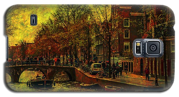 I Amsterdam. Vintage Amsterdam In Golden Light Galaxy S5 Case