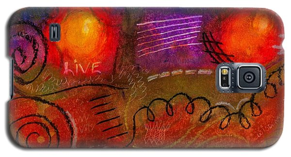 Galaxy S5 Case featuring the painting I Can Do All Things by Angela L Walker