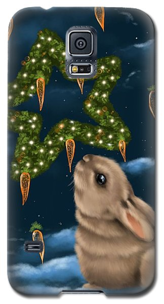 Galaxy S5 Case featuring the painting I Can Smell The Christmas In The Air by Veronica Minozzi