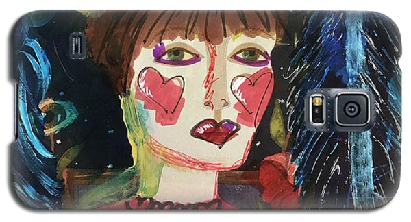 Galaxy S5 Case featuring the painting I Carry Your Heart In My Heart by Kim Nelson