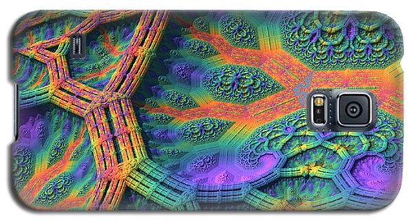 Galaxy S5 Case featuring the digital art I Don't Do Drugs, Just Fractals by Lyle Hatch