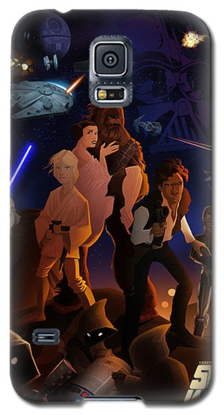 Galaxy S5 Case featuring the digital art I Grew Up With Starwars by Nelson Dedos  Garcia