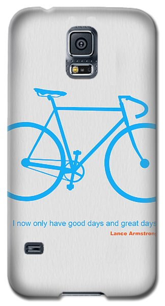 Bicycle Galaxy S5 Case - I Have Only Good Days And Great Days by Naxart Studio