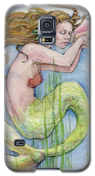 Galaxy S5 Case featuring the painting Mermaid by Lora Serra