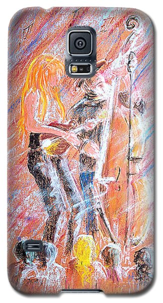 Galaxy S5 Case featuring the painting I Love Bluegrass by Bill Holkham