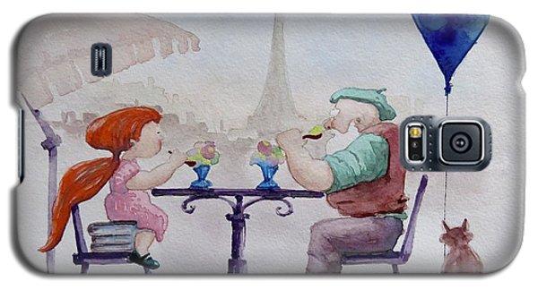 Galaxy S5 Case featuring the painting I Love Paris Grandpa by Geni Gorani