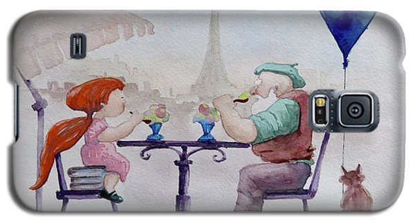 I Love Paris Grandpa Galaxy S5 Case by Geni Gorani