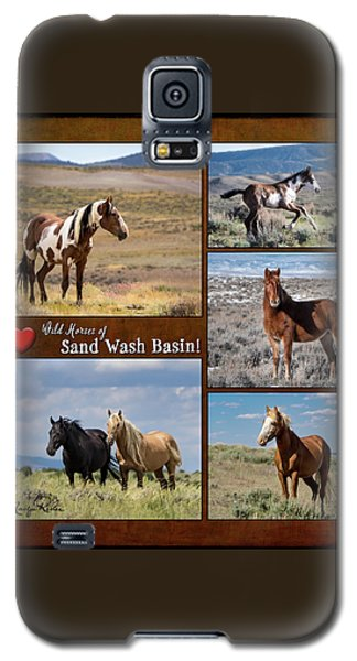 I Love Wild Horses Of Sand Wash Basin Galaxy S5 Case