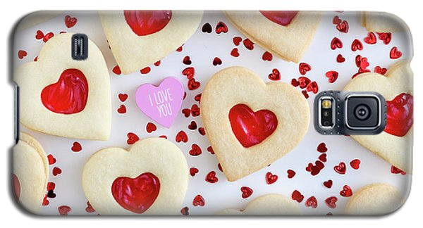 Galaxy S5 Case featuring the photograph I Love You Heart Cookies by Teri Virbickis