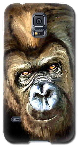 Gorilla Portrait Galaxy S5 Case by James Shepherd