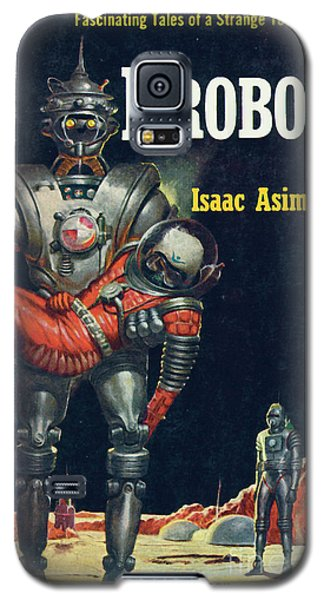 Galaxy S5 Case featuring the painting I, Robot by Robert Schulz