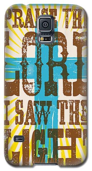 I Saw The Light Lyric Poster Galaxy S5 Case