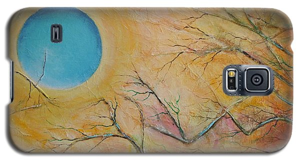 Galaxy S5 Case featuring the painting I Saw You Standing Alone by Dan Whittemore