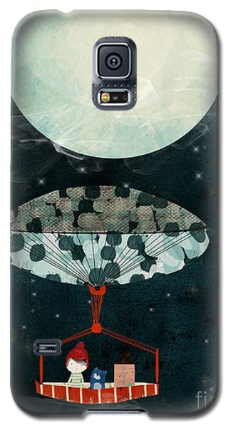 Galaxy S5 Case featuring the painting I See The Moon Too by Bri B