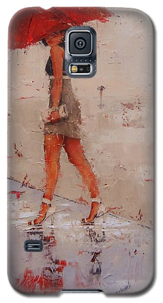 Galaxy S5 Case featuring the painting I See You by Laura Lee Zanghetti