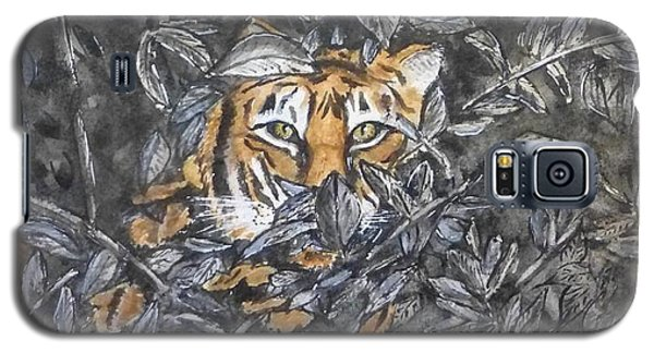 Galaxy S5 Case featuring the painting I See You... Orange Tiger by Kelly Mills
