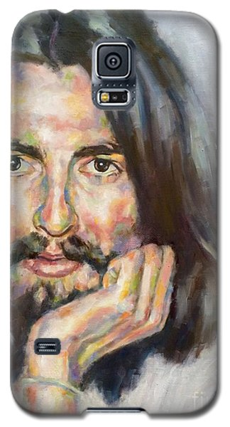 Galaxy S5 Case featuring the painting Free From Birth by Rebecca Glaze