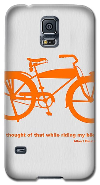 I Thought Of That While Riding My Bike Galaxy S5 Case by Naxart Studio