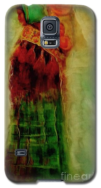Galaxy S5 Case featuring the painting I Walk by FeatherStone Studio Julie A Miller