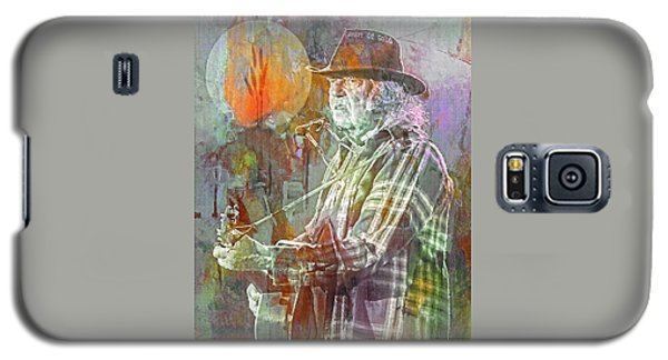 Neil Young Galaxy S5 Case - I Wanna Live, I Wanna Give by Mal Bray