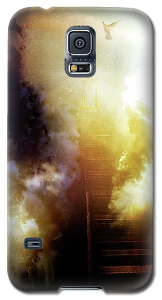 Galaxy S5 Case featuring the photograph I Will Take The Stairs by Yvonne Emerson AKA RavenSoul