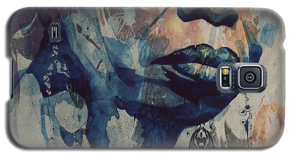 Galaxy S5 Case featuring the mixed media I Wish I Knew How It Would Be  Feel To Be Free by Paul Lovering