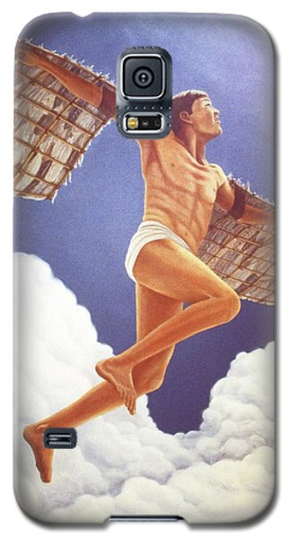 Galaxy S5 Case featuring the painting Icarus Ascending by Laurie Stewart