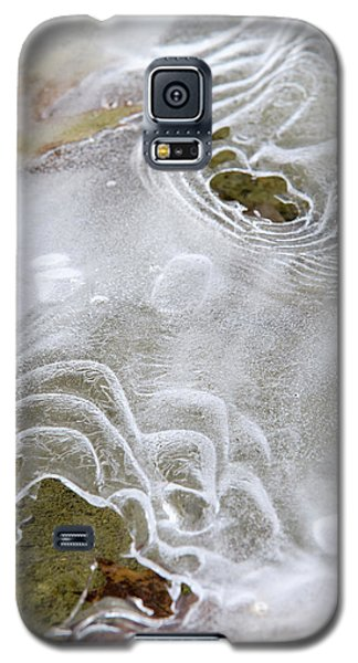 Galaxy S5 Case featuring the photograph Ice Abstract by Christina Rollo