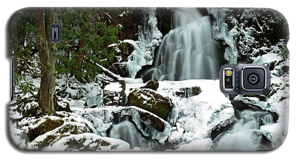 Ice And Snow, Mouse Creek Falls, Great Smoky Mountain National Park Galaxy S5 Case
