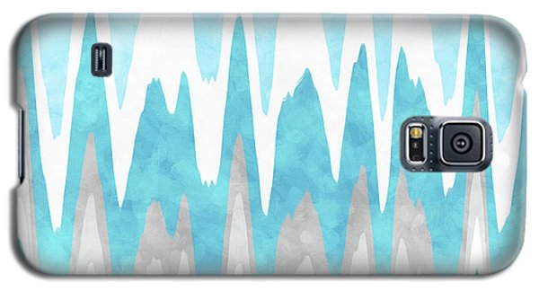 Galaxy S5 Case featuring the mixed media Ice Blue Abstract by Christina Rollo