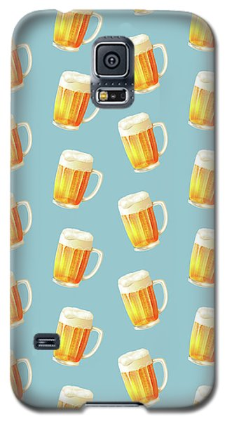Ice Cold Beer Pattern Galaxy S5 Case by Little Bunny Sunshine