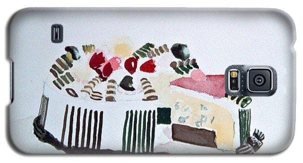 Ice Cream Cake Watercolor Galaxy S5 Case