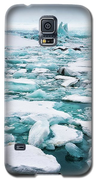 Ice Galore In The Jokulsarlon Glacier Lagoon Iceland Galaxy S5 Case by Matthias Hauser