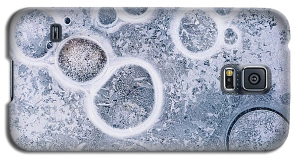 Galaxy S5 Case featuring the photograph Ice Pattern Five by Davorin Mance