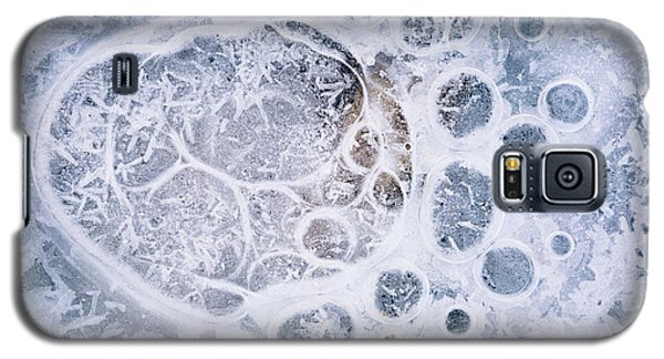 Galaxy S5 Case featuring the photograph Ice Pattern One by Davorin Mance