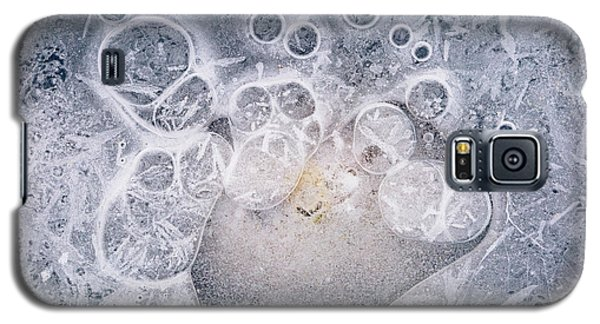 Galaxy S5 Case featuring the photograph Ice Pattern Two by Davorin Mance