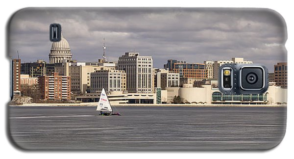 Ice Sailing - Lake Monona - Madison - Wisconsin Galaxy S5 Case by Steven Ralser