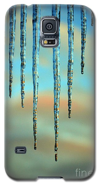 Galaxy S5 Case featuring the photograph Ice Sickles - Winter In Switzerland  by Susanne Van Hulst